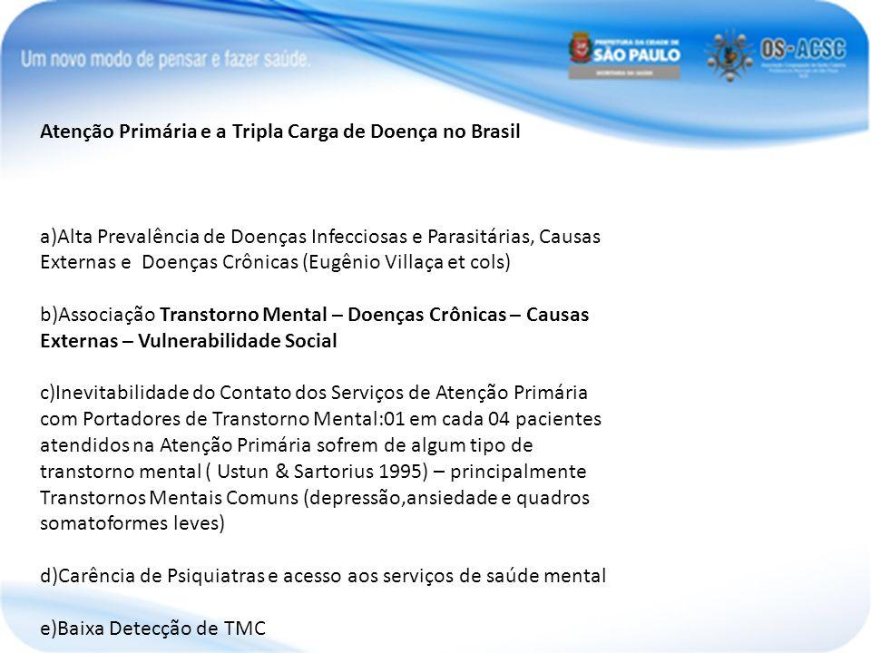 Atenção Primária e a Tripla Carga de Doença no Brasil a)Alta Prevalência de Doenças Infecciosas e Parasitárias, Causas Externas e Doenças Crônicas (Eu