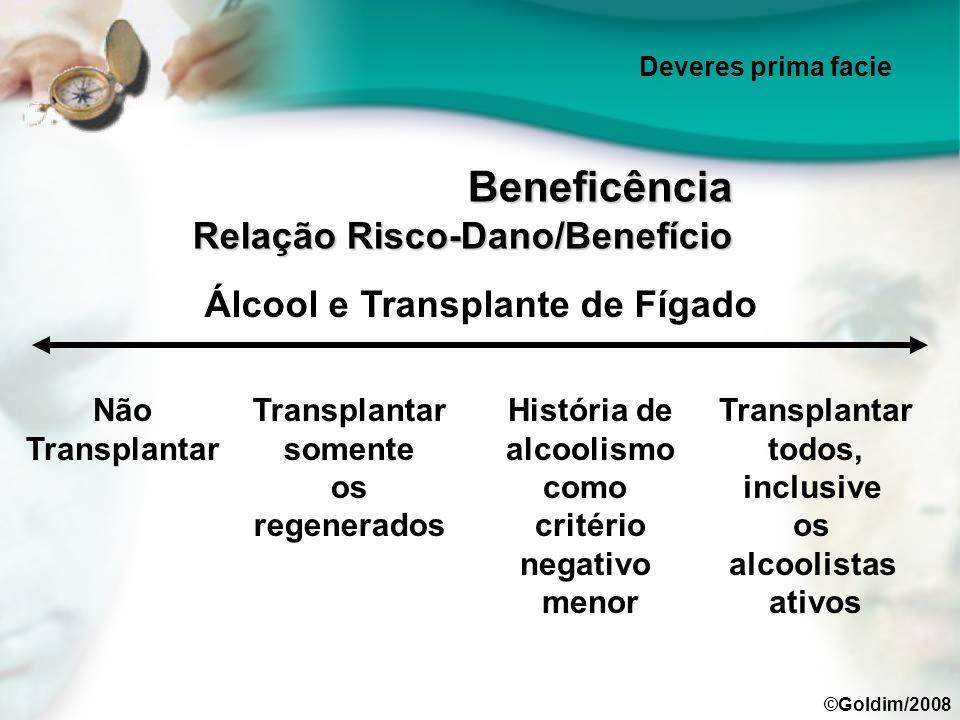 Álcool e Transplante de Fígado Não Transplantar História de alcoolismo como critério negativo menor Transplantar somente os regenerados Transplantar t