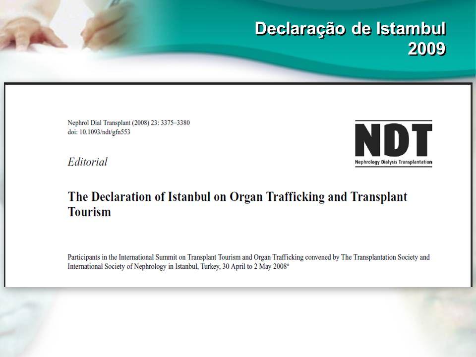 Declaração de Istambul 2009 Declaração de Istambul 2009