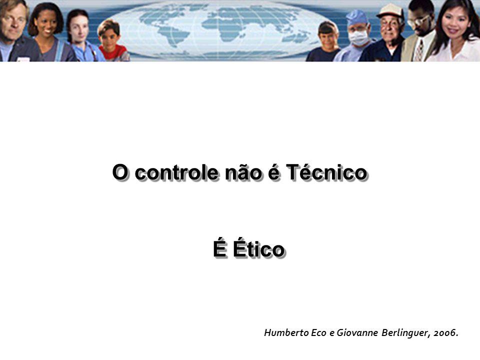 O controle não é Técnico É Ético Humberto Eco e Giovanne Berlinguer, 2006.