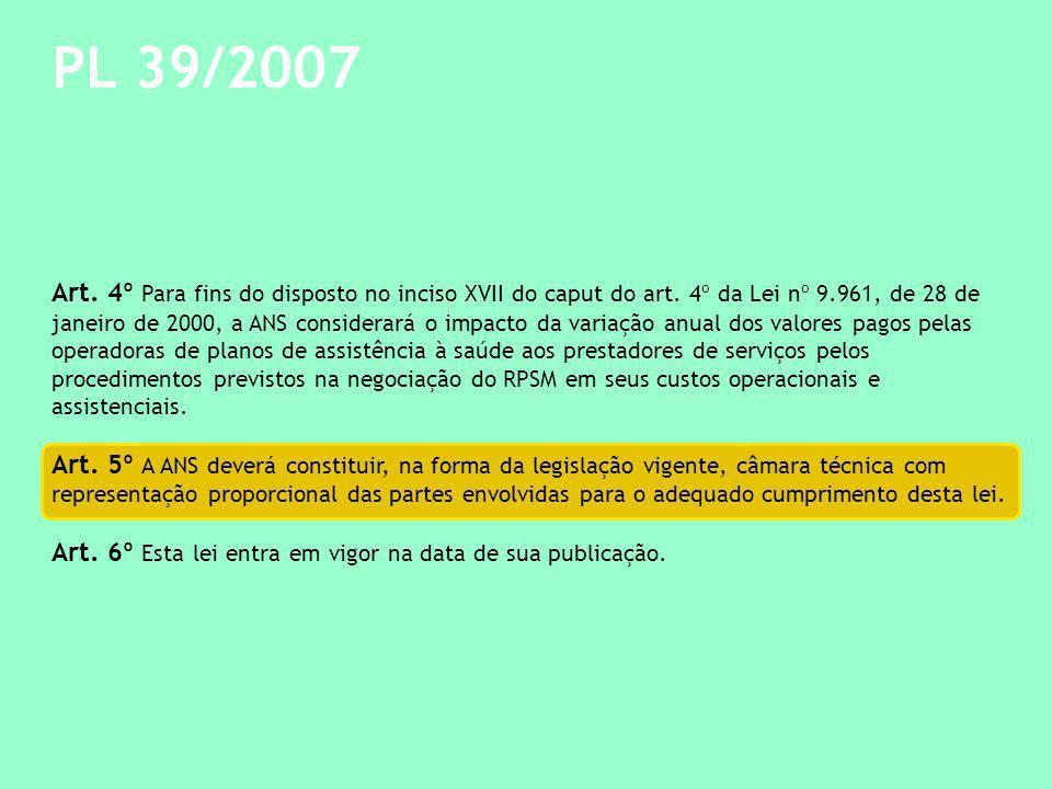 PL 39/2007 Art.4º Para fins do disposto no inciso XVII do caput do art.