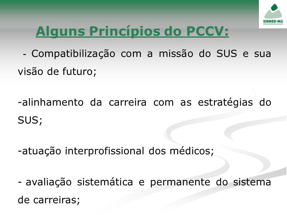 - Compatibilização com a missão do SUS e sua visão de futuro; -alinhamento da carreira com as estratégias do SUS; -atuação interprofissional dos médic