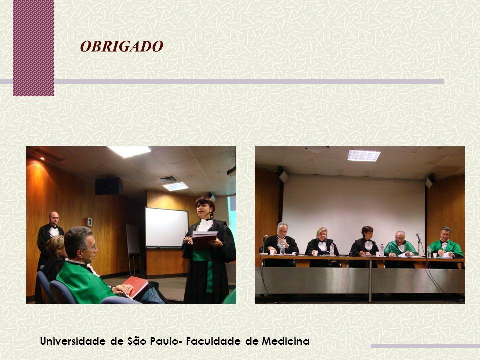Universidade de São Paulo- Faculdade de Medicina Tabela 01 OBRIGADO Leonardo da Vinci