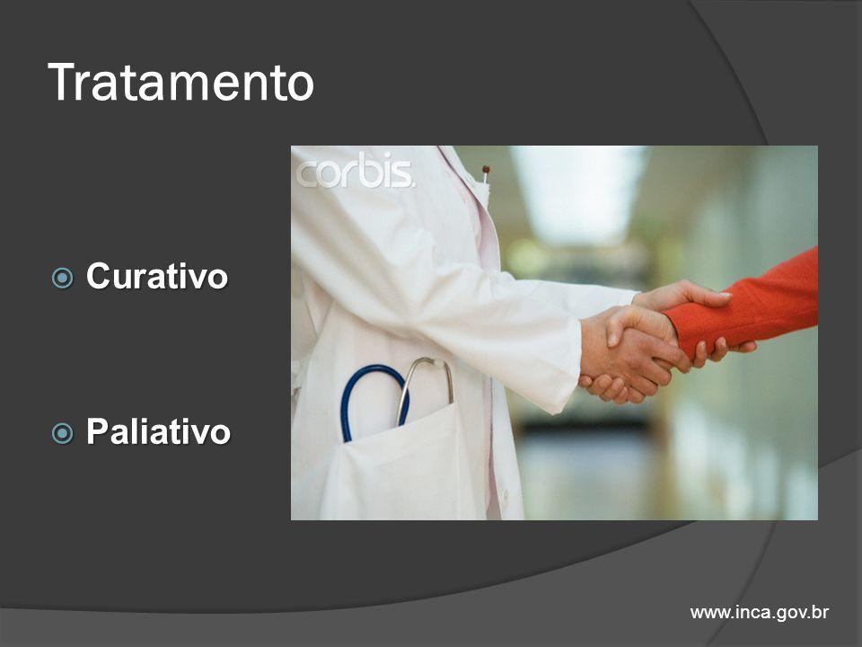Tratamento Curativo Curativo Paliativo Paliativo www.inca.gov.br
