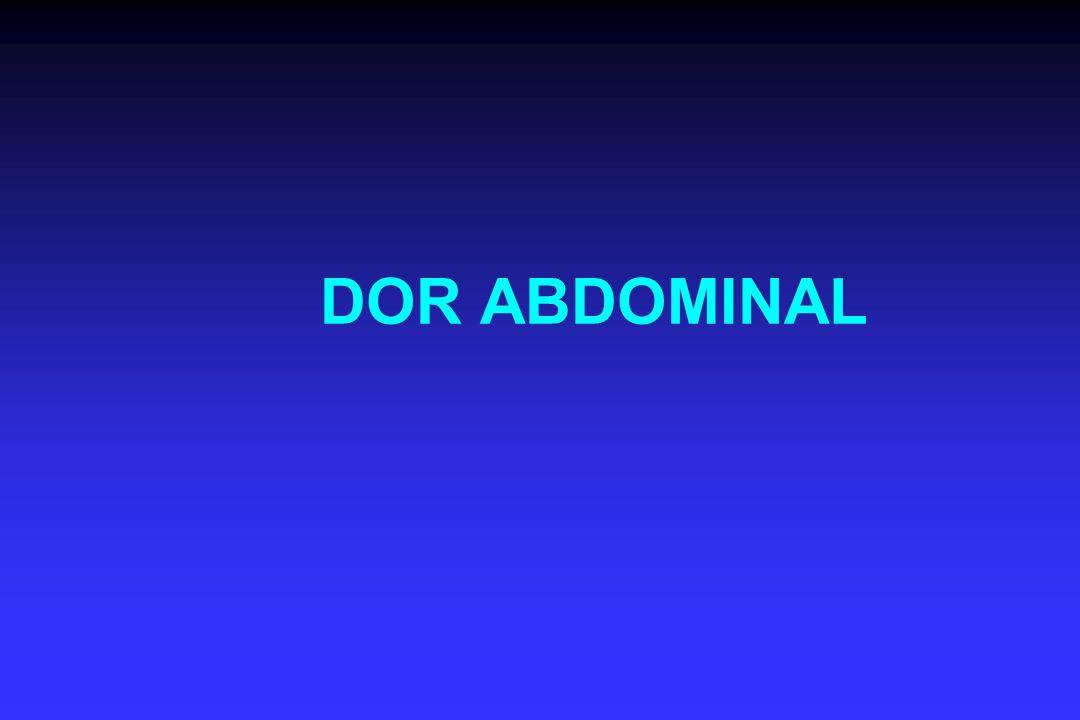 Quadrante inferior direito Endometriose Hematoma de parede abdominal Hérnia inguinal Obstrução intestinal PancreatitePielonefrite Prenhez ectópica Salpingite Úlcera perfurada