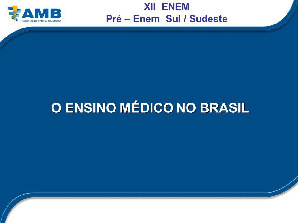 O ENSINO MÉDICO NO BRASIL XII ENEM Pré – Enem Sul / Sudeste