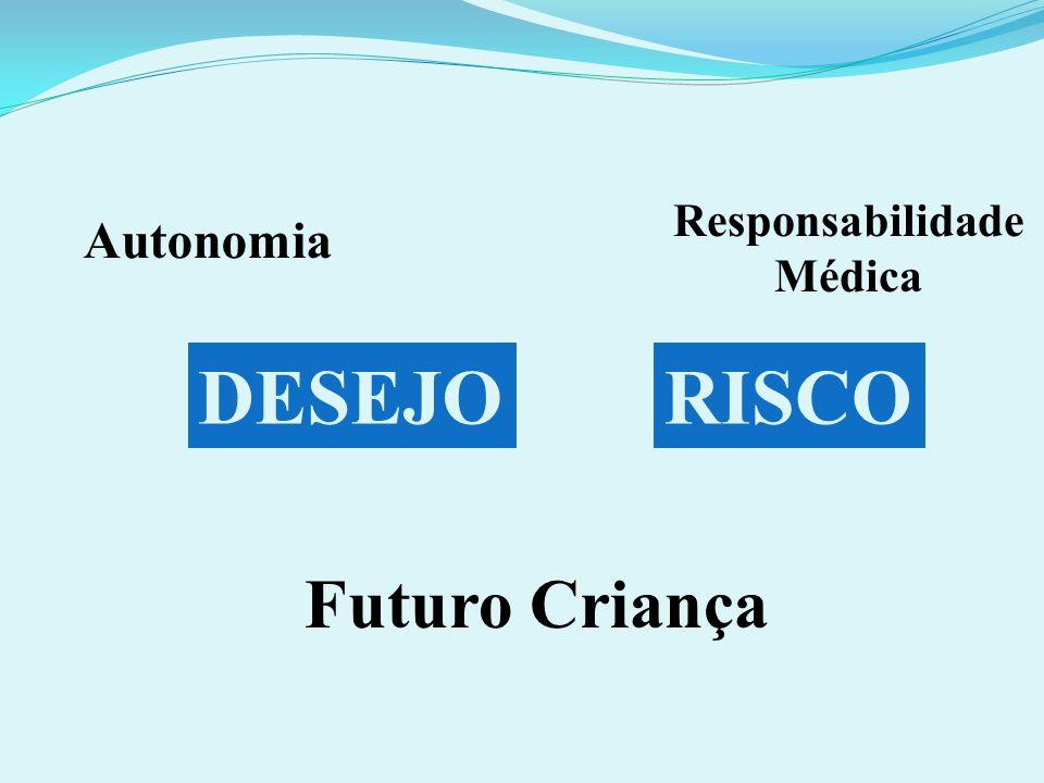 DESEJORISCO Autonomia Responsabilidade Médica Futuro Criança