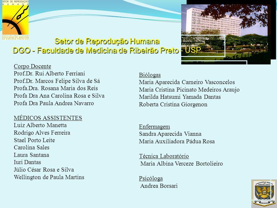 Corpo Docente Prof.Dr. Rui Alberto Ferriani Prof.Dr. Marcos Felipe Silva de Sá Profa.Dra. Rosana Maria dos Reis Profa Dra Ana Carolina Rosa e Silva Pr