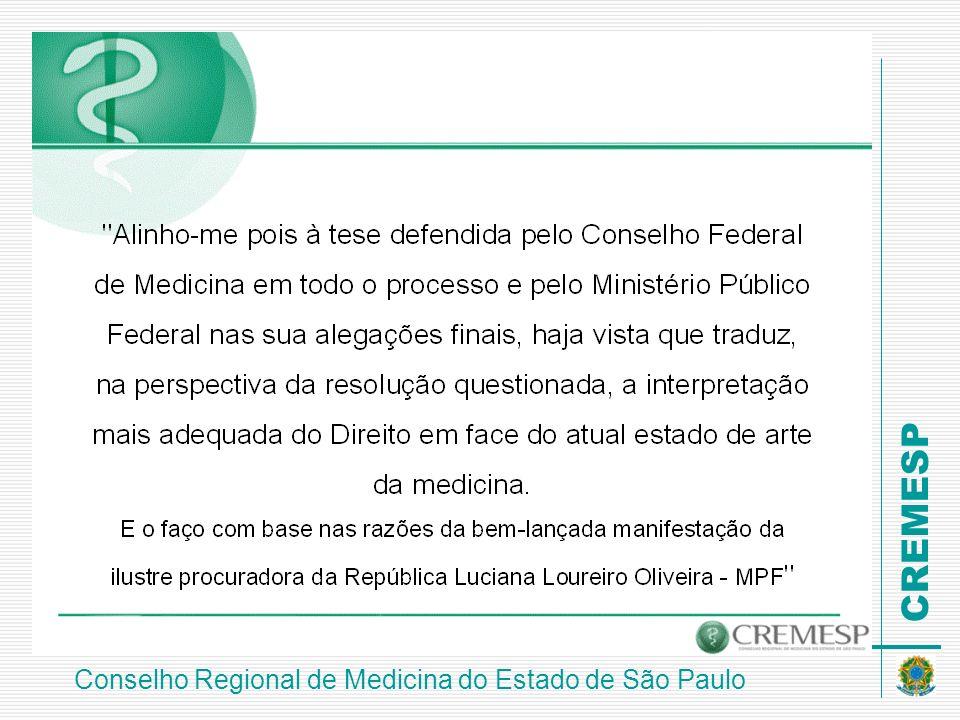 CREMESP Conselho Regional de Medicina do Estado de São Paulo