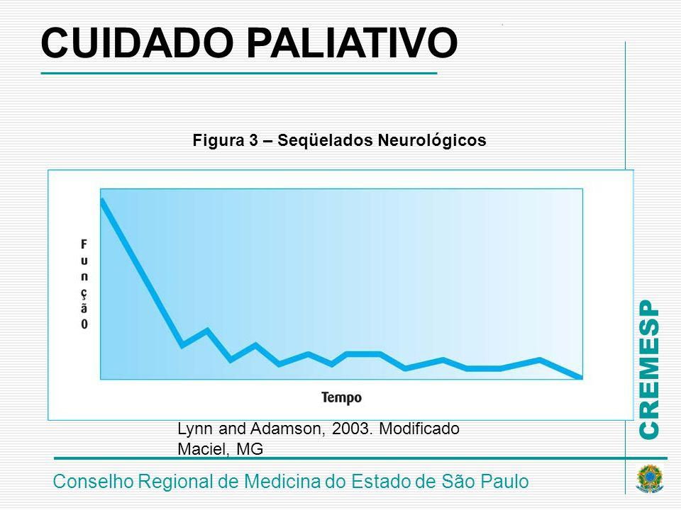 CREMESP Conselho Regional de Medicina do Estado de São Paulo Figura 3 – Seqüelados Neurológicos Lynn and Adamson, 2003. Modificado Maciel, MG CUIDADO
