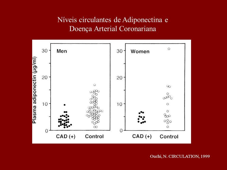 Níveis circulantes de Adiponectina e Doença Arterial Coronariana Ouchi, N. CIRCULATION, 1999