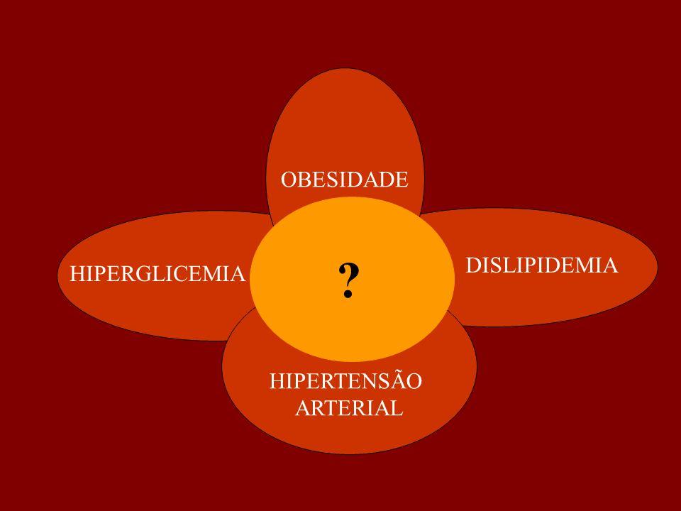 DISLIPIDEMIA HIPERGLICEMIA OBESIDADE HIPERTENSÃO ARTERIAL ?