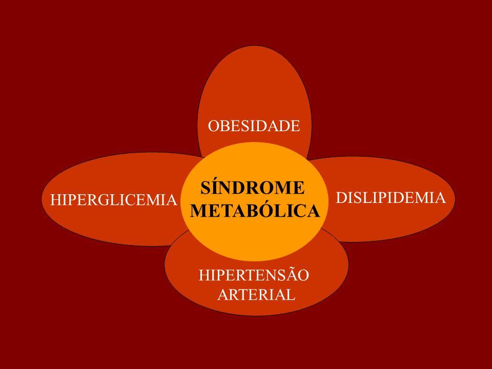OBESIDADE HIPERTENSÃO ARTERIAL HIPERGLICEMIA DISLIPIDEMIA SÍNDROME METABÓLICA