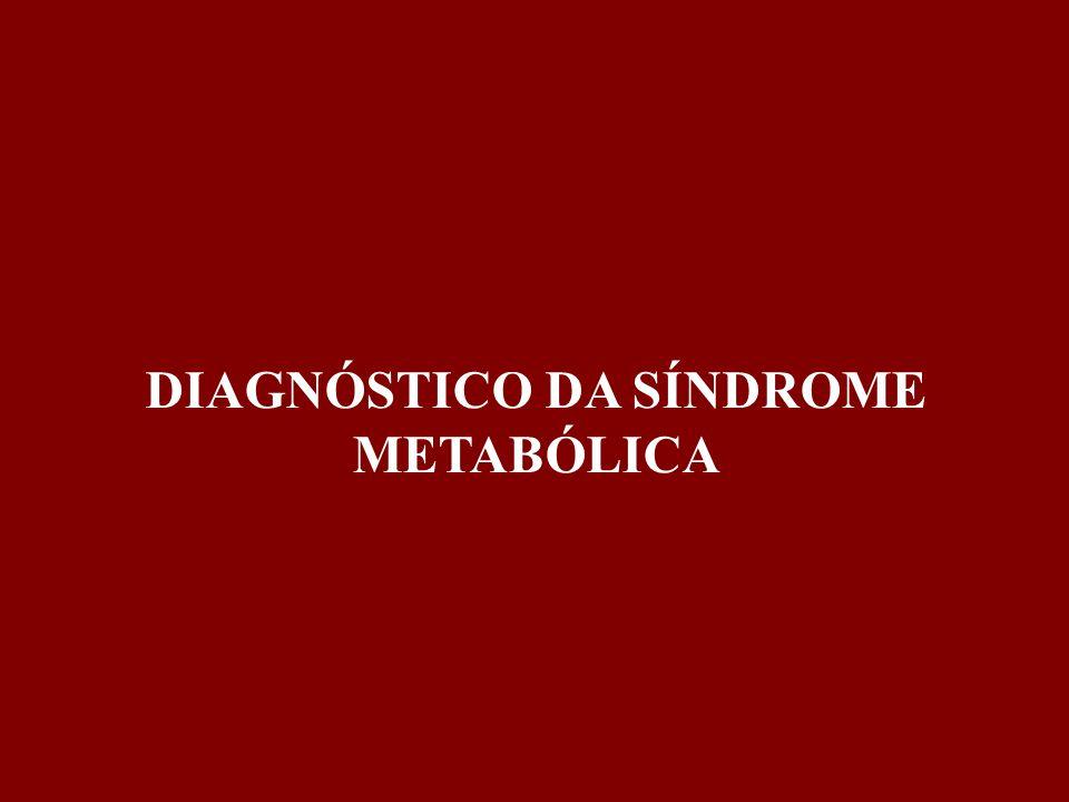 DIAGNÓSTICO DA SÍNDROME METABÓLICA