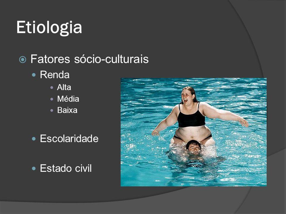 Etiologia Fatores sócio-culturais Renda Alta Média Baixa Escolaridade Estado civil