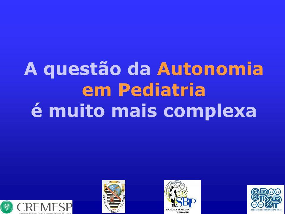 A questão da Autonomia em Pediatria é muito mais complexa