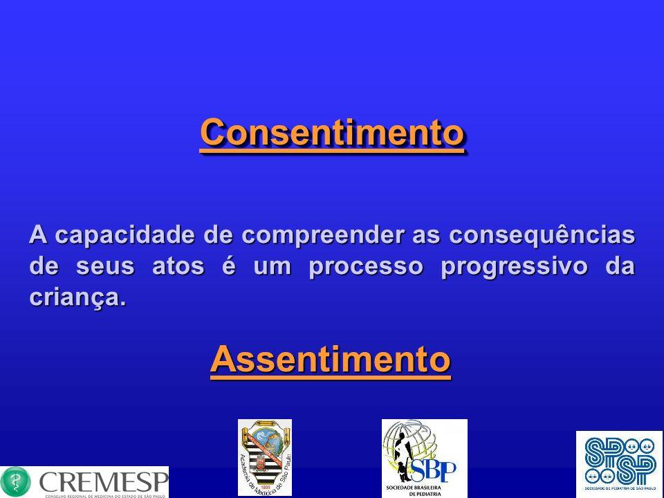 ConsentimentoConsentimento A capacidade de compreender as consequências de seus atos é um processo progressivo da criança. Assentimento