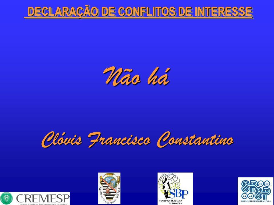 Não há Clóvis Francisco Constantino DECLARAÇÃO DE CONFLITOS DE INTERESSE DECLARAÇÃO DE CONFLITOS DE INTERESSE