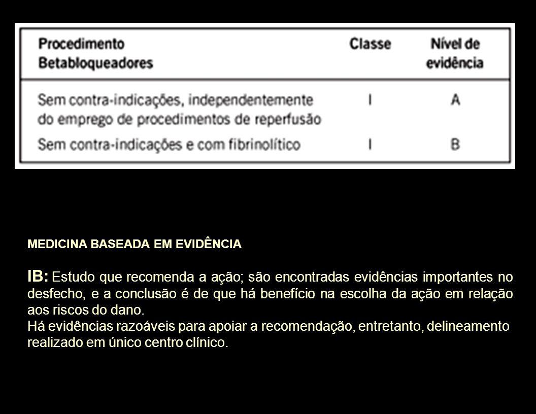 MEDICINA BASEADA EM EVIDÊNCIA IB: Estudo que recomenda a ação; são encontradas evidências importantes no desfecho, e a conclusão é de que há benefício