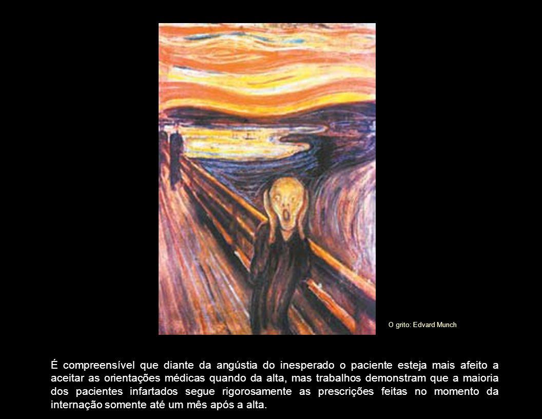 O grito: Edvard Munch É compreensível que diante da angústia do inesperado o paciente esteja mais afeito a aceitar as orientações médicas quando da al