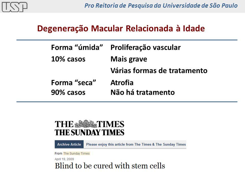 Fibroblastos humanos iPS OCT4, SOX2, NANOG, LIN28 NeuralCartilagem Epitélio Intestinal iPSEPR Epitélio Pigmentado Retiniano Pro Reitoria de Pesquisa da Universidade de São Paulo