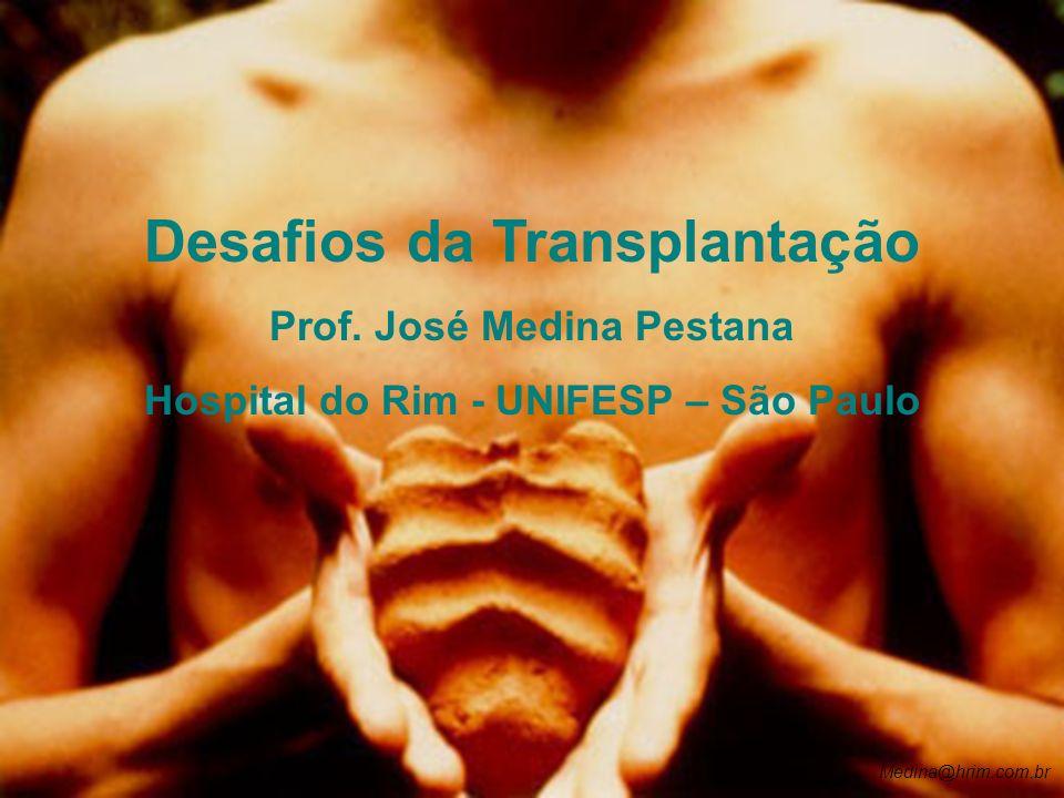 Medina@hrim.com.br Desafios da Transplantação Prof. José Medina Pestana Hospital do Rim - UNIFESP – São Paulo