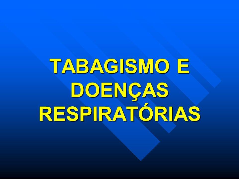 TABAGISMO E DOENÇAS RESPIRATÓRIAS