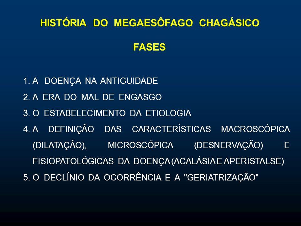 FASES DA HISTÓRIA DO MEGAESÔFAGO CHAGÁSICO 3. O ESTABELECIMENTO DA ETIOLOGIA