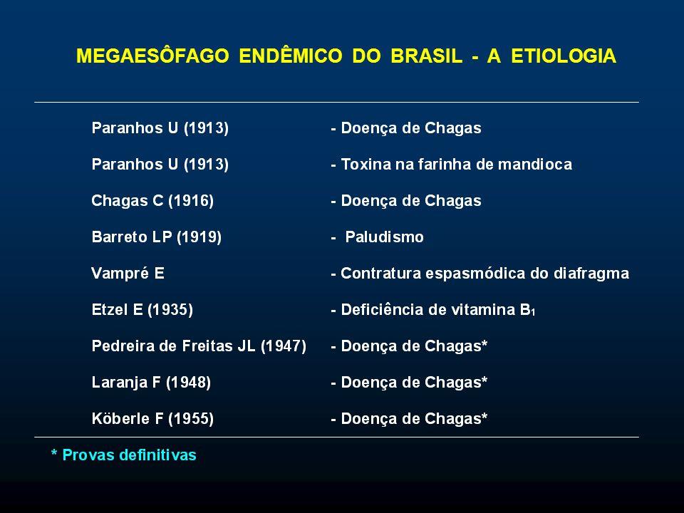 MEGAESÔFAGO ENDÊMICO DO BRASIL - A ETIOLOGIA