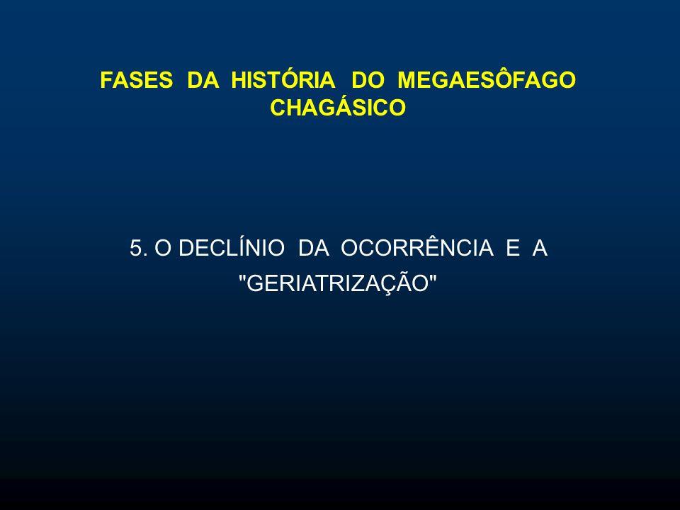 FASES DA HISTÓRIA DO MEGAESÔFAGO CHAGÁSICO 5. O DECLÍNIO DA OCORRÊNCIA E A GERIATRIZAÇÃO