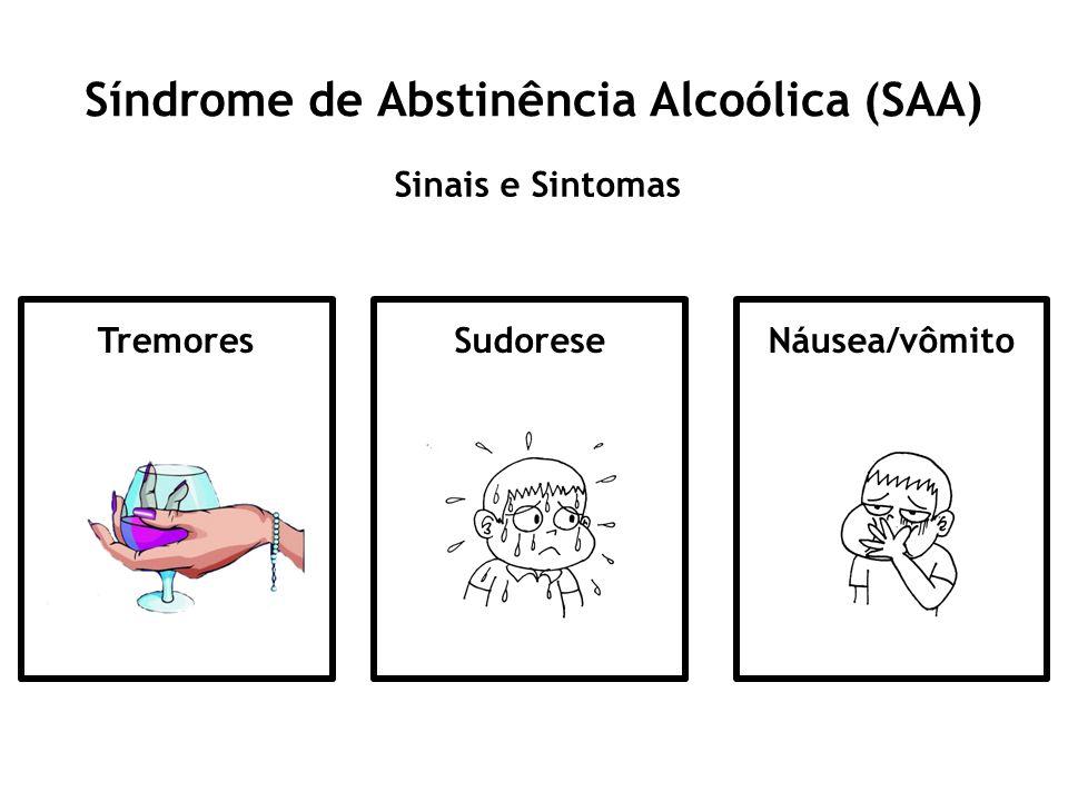 Síndrome de Abstinência Alcoólica (SAA) Sinais e Sintomas TremoresSudoreseNáusea/vômito