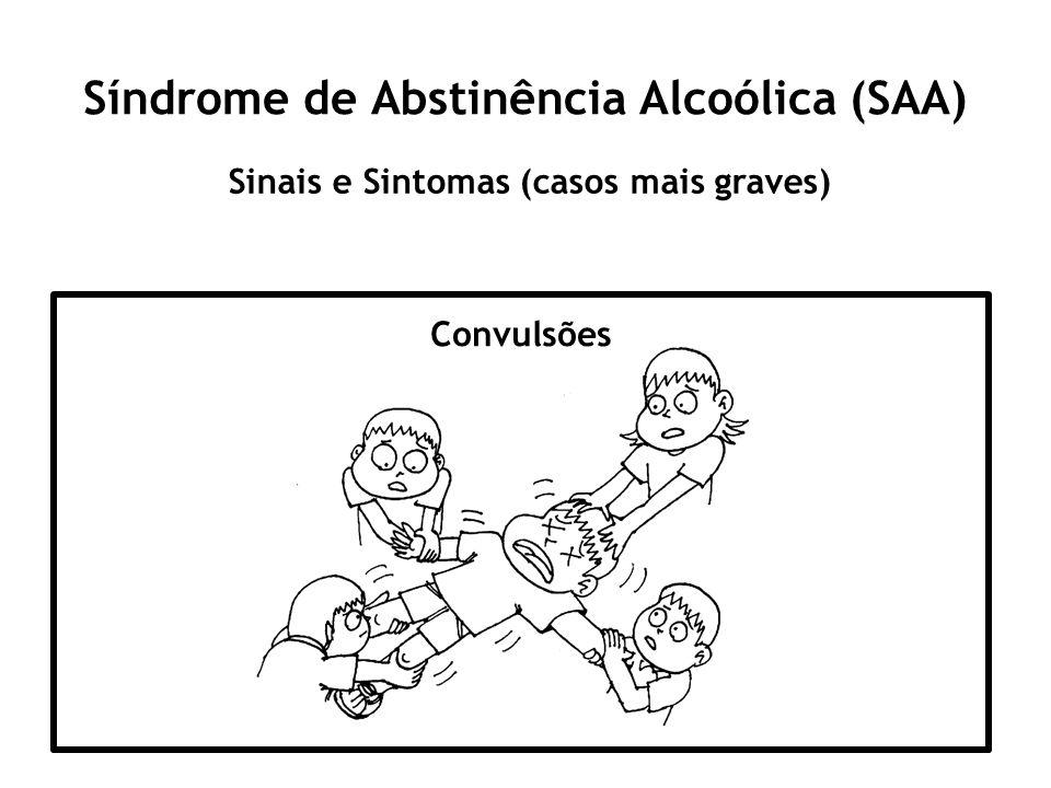 Síndrome de Abstinência Alcoólica (SAA) Sinais e Sintomas (casos mais graves) Convulsões