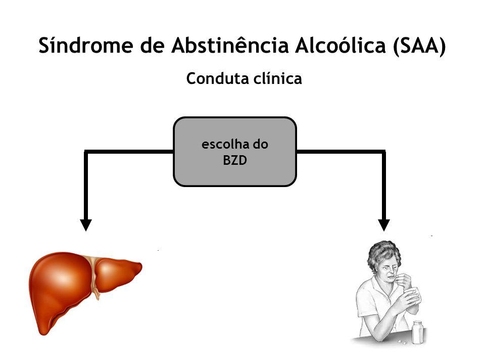 Síndrome de Abstinência Alcoólica (SAA) Conduta clínica escolha do BZD