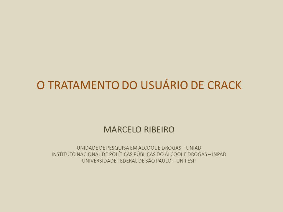 O TRATAMENTO DO USUÁRIO DE CRACK MARCELO RIBEIRO UNIDADE DE PESQUISA EM ÁLCOOL E DROGAS – UNIAD INSTITUTO NACIONAL DE POLÍTICAS PÚBLICAS DO ÁLCOOL E D