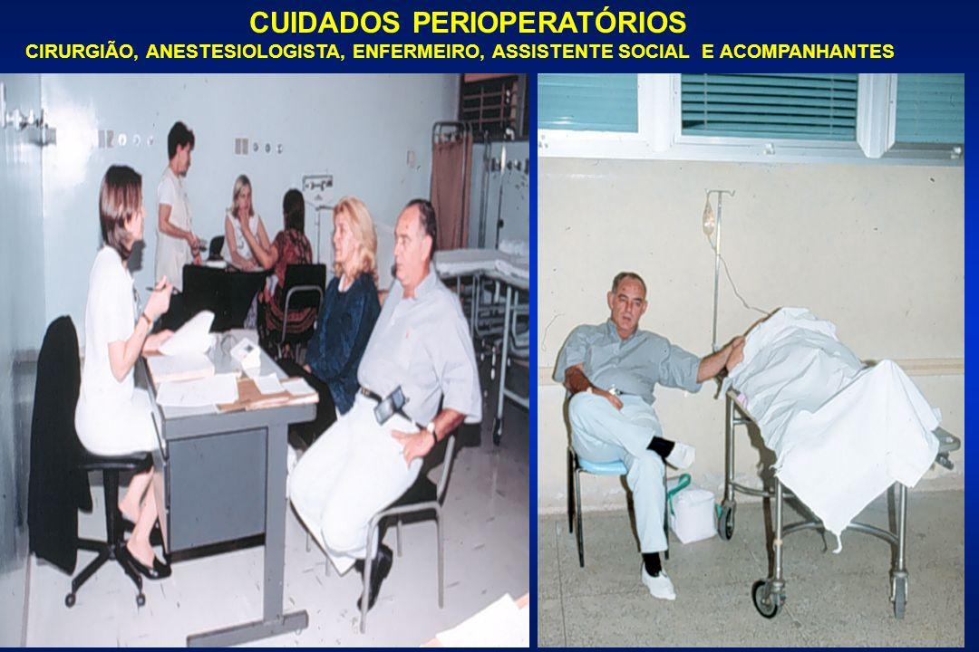 CUIDADOS PERIOPERATÓRIOS CIRURGIÃO, ANESTESIOLOGISTA, ENFERMEIRO, ASSISTENTE SOCIAL E ACOMPANHANTES
