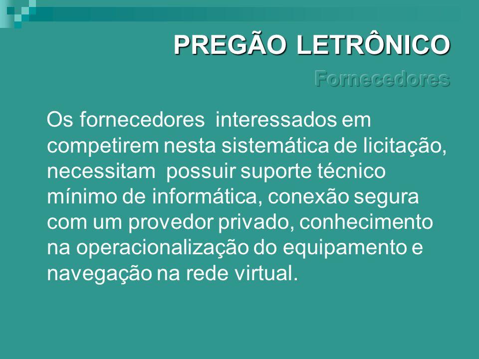 O sitio oficial de compras do governo federal brasileiro além da operacionalidade da ferramenta PREGÃO ELETRÔNICO permite ao usuário rápido e fácil ac