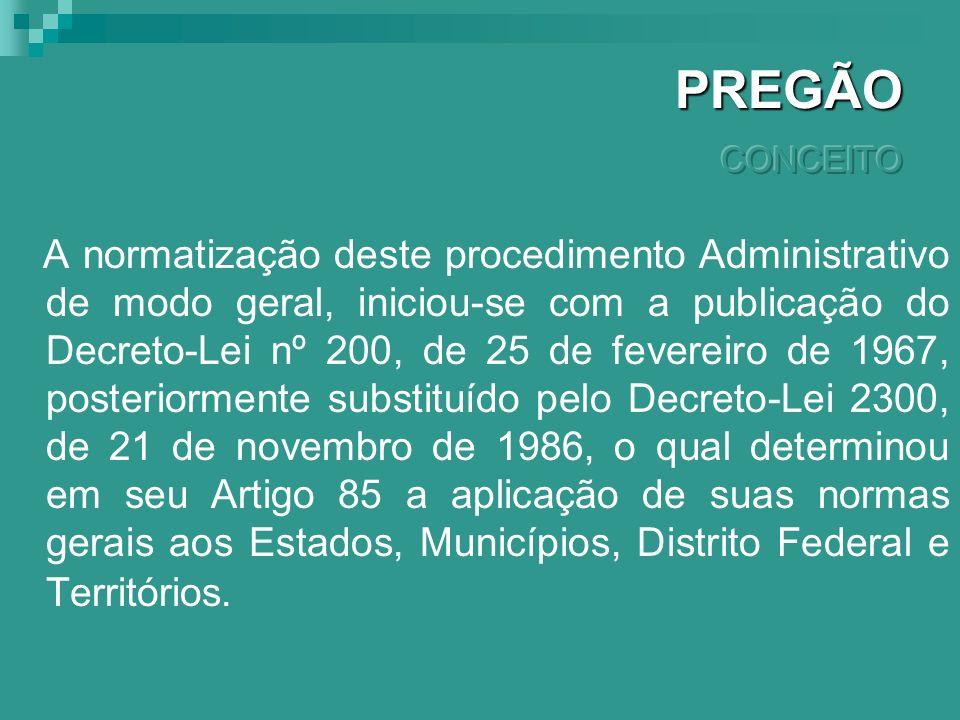 È o procedimento administrativo pelo qual um ente público, no exercício da função administrativa, abre a todos os interessados, que se sujeitarem às c