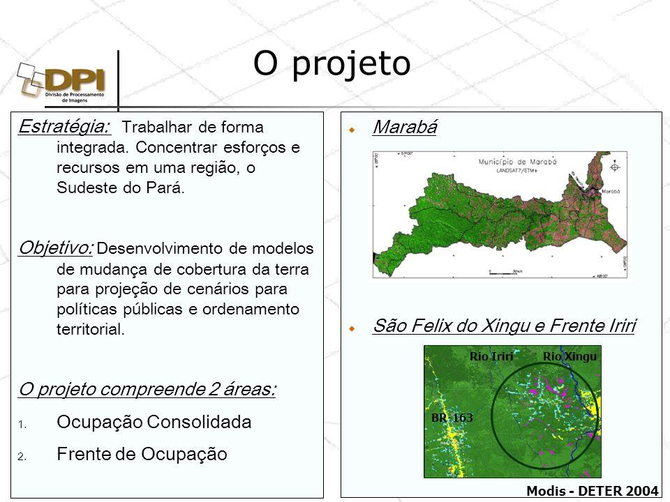 Etapas do Projeto 1.Diagnóstico Dinâmica Territorial e Socioambiental de Áreas Consolidadas: O Caso da Região de Marabá.