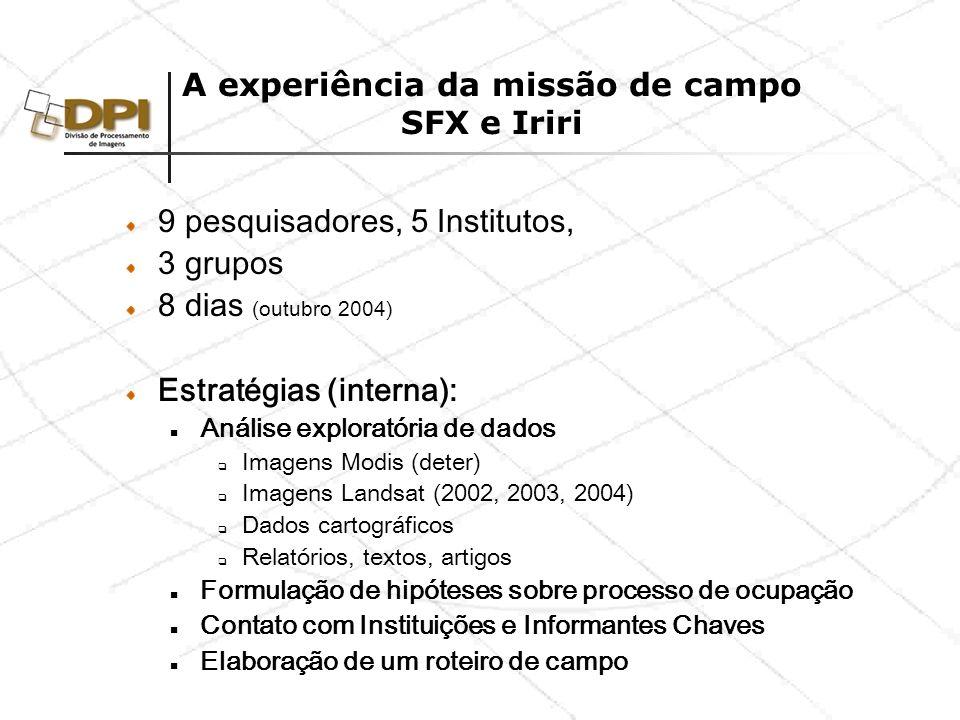 Estratégias de Campo Entrevistas com Informantes chaves : Incra (Marabá e SFX) IBAMA (Marabá) Lasat (Marabá) Romain (UNB) CPT (Tarcísio) IBGE (Xinguara) Divisão da missão Tucumã/São Félix – Região consolidada: enfoque pecuária.