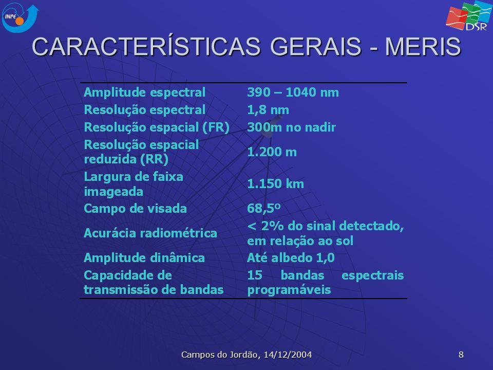 Campos do Jordão, 14/12/2004 9 BANDAS ESPECTRAIS - MERIS