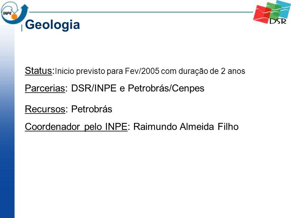 Status: Inicio previsto para Fev/2005 com duração de 2 anos Parcerias: DSR/INPE e Petrobrás/Cenpes Recursos: Petrobrás Coordenador pelo INPE: Raimundo