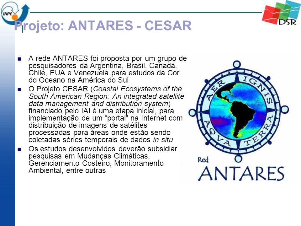 Projeto: ANTARES - CESAR A rede ANTARES foi proposta por um grupo de pesquisadores da Argentina, Brasil, Canadá, Chile, EUA e Venezuela para estudos d