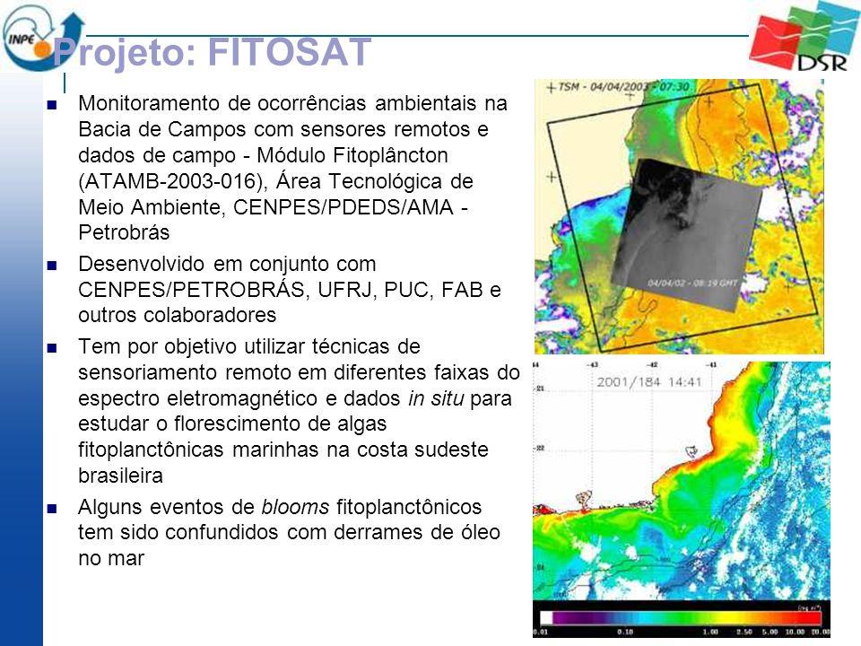 Projeto: FITOSAT Monitoramento de ocorrências ambientais na Bacia de Campos com sensores remotos e dados de campo - Módulo Fitoplâncton (ATAMB-2003-01
