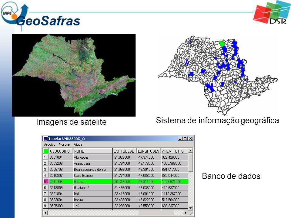 GeoSafras Imagens de satélite Sistema de informação geográfica Banco de dados