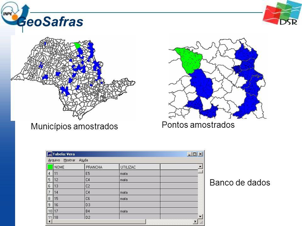 GeoSafras Municípios amostrados Pontos amostrados Banco de dados