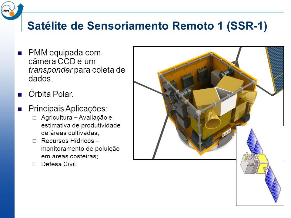 PMM equipada com câmera CCD e um transponder para coleta de dados. Órbita Polar. Principais Aplicações: Agricultura – Avaliação e estimativa de produt