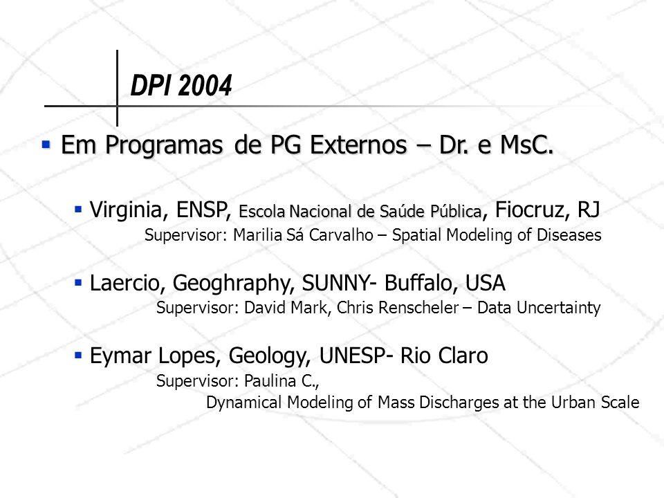 DPI 2004 Em Programas de PG Externos – Dr. e MsC. Em Programas de PG Externos – Dr. e MsC. Escola Nacional de Saúde Pública Virginia, ENSP, Escola Nac