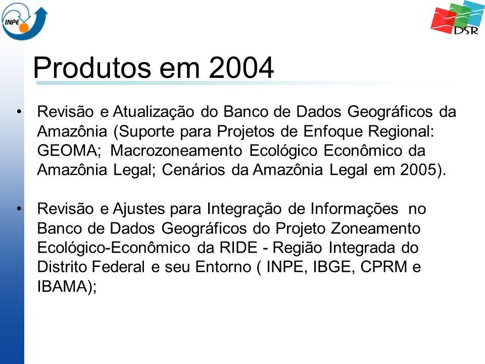 Revisão e Atualização do Banco de Dados Geográficos da Amazônia (Suporte para Projetos de Enfoque Regional: GEOMA; Macrozoneamento Ecológico Econômico da Amazônia Legal; Cenários da Amazônia Legal em 2005).