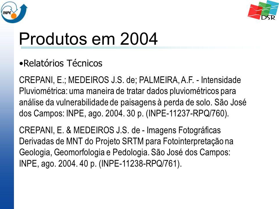 Relatórios Técnicos CREPANI, E.; MEDEIROS J.S. de; PALMEIRA, A.F.