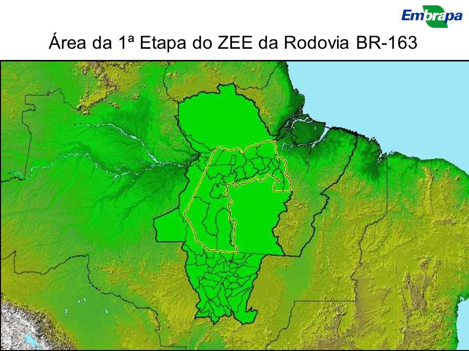 Área da 1ª Etapa do ZEE da Rodovia BR-163